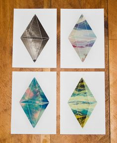 Need to have!! Prism Pack Set of Three 5x7's by Panimalia on Etsy, $25.00