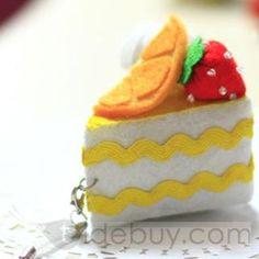 Bright Fan-shaped Nonwoven Pendants of Orange Cakes Artifacts