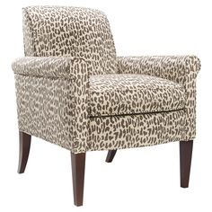 Add a pop of visual interest to your living room or master suite with this chic arm chair,