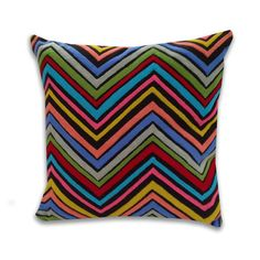 Marlo Lorenz Chevron Cotton Pillow