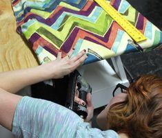 upholstery basics: room divider bulletin board   Design*Sponge
