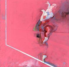 Robert Heindel. Dancer on Carmine/ダン サー オン カーマ イン/49×50cm/ ジク レ・シルクスクリーン