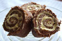 Glutenfri matblogg: Sjokoladerullekake med ostekrem Muffin, Baking, Eat, Breakfast, Food, Cakes, Drink, Bread Making, Morning Coffee