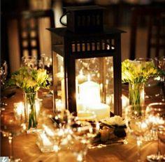 Wedding Table Centerpiece:  Lanterns ♡