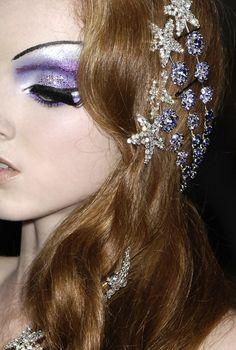 purple stars hair and makeup