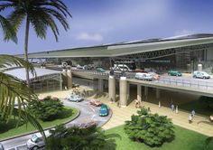 King Shaka Airport in Durban - artist's depication before it was built.