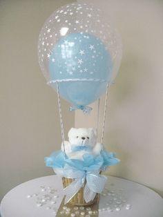 Centerpiece Boy Hot Air Balloon Small