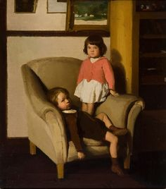 Percy Leason, Two of the artist's children, c. 1922