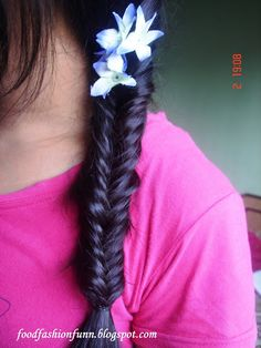 I love these braids because they can be messy and still look good!
