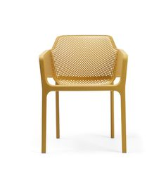 NET: A Fiberglass Resin Chair With a Punched Pattern