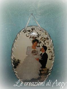 Ovale personalizzato per 25° anniversario di matrimonio.