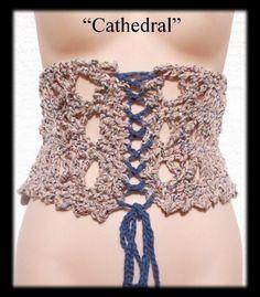 Cathedral Corset Crochet Pattern PLUS Free Bonus. $2.99, via Etsy.