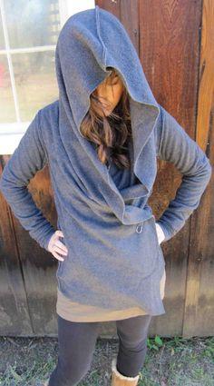 cozy fleece yoga wrap....can be worn 5 different ways