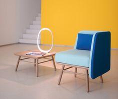 silvia cenal squares bi silla lounge furniture for two.six - designboom | architecture