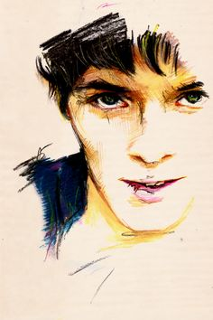 Merlin. I wish I knew the artist! If you know who drew this, leave a comment. <<< this is a really epic drawing :D