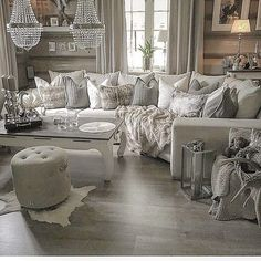 nice 51 Ultimate Romantic Living Room Decor Ideas - Before After DIY Glam Living Room, French Country Living Room, Romantic Living Room, Rustic Glam Living Room, New Living Room, Country Living Room, Apartment Living Room, Farm House Living Room, Living Room Grey