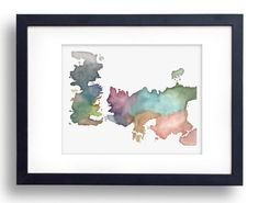 Game of Thrones Map Watercolor - Fine Art Print by LarissaAleksandrov on Etsy https://www.etsy.com/listing/190147535/game-of-thrones-map-watercolor-fine-art