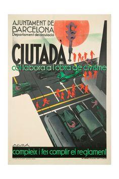 Cartell Ciutadà, col•labora a l'obra de civisme. Barcelona, c. 1936. Josep Alumà (1897-1974)