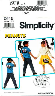 Simplicity 0615, Child's Shirt & Skirt, Size 8, Chest 27, 1950s style costume by MySewingChest on Etsy
