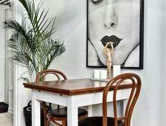 90 Amazing Small Dining Room Decor Ideas - Home Diy Interior, Living Room Interior, Home Staging, Decoration Baroque, Deco Originale, Small Dining, Wishbone Chair, Dining Room Design, Terrazzo