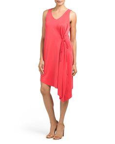 Sleeveless+Asymmetrical+Hem+Dress