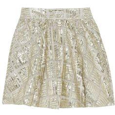 Alice + Olivia Jaylyn metallic mesh mini skirt (£102) ❤ liked on Polyvore