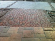 Flawless herringbone clay paver entry Clay Pavers, Concrete Pavers, Interlocking Pavers, Travertine, Herringbone, Tile Floor, Flooring, Tile Flooring, Wood Flooring