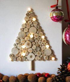 Arbol de rodajas de madera