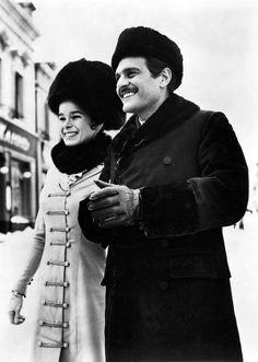 Omar Sharif, with Geraldine Chaplin, 1965.