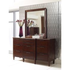 The Elise collection, handcrafted from solid Appalachian maple, includes features like full-extension, soft-close drawers. http://kincaidfurniture.com/