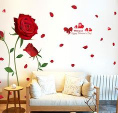 2017 new Removable Red Rose Life Is The Flower Quote Wall Sticker Mural Decal Home Room Art Decor DIY Romantic Delightful 6055-in Wall Stickers from Home & Garden on Aliexpress.com | Alibaba Group