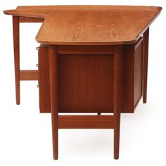 Desk By Arne Vodder | From a unique collection of antique and modern desks and writing tables at http://www.1stdibs.com/furniture/tables/desks-writing-tables/