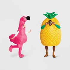 Flamingo and Pineapple costume_Adult Halloween outfit _trick or treat party _ Hyde & Eek Inflatable Costumes Couple Halloween Costumes For Adults, Adult Halloween, Halloween Outfits, Adult Costumes, Pineapple Costume, Inflatable Costumes, Red Riding Hood Costume, Costume Collection, Trick Or Treat
