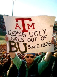 Hahahahaha Nothing personal against all my beautiful Aggie friends but this is funny.