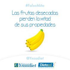 #FalsoMito Las #frutasdesecadas no pierden sus propiedades. Lo cierto es que solo pierden agua, pero los nutrientes se quedan concentrados.