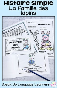 Students will love this simple French story about a rabbit family. It is perfect to read in the spring and at Easter time. Teachers love the ease of a print and go comprehensible reader for young learners in their classes. The product includes worksheets for students to work with key vocabulary words related to la famille et Pâques au printemps. C'est parfait pour une classe d'immersion à l'école où maternelle. Les enfants aiment la lecture en français. #maternelle #frenchimmersion French Lessons, Spanish Lessons, How To Speak French, Learn French, World Language Classroom, Language Immersion, French Classroom, Emergent Readers, Dual Language