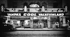 Tampa Theatre, 709 Franklin Street, 1942 The Tampa Theatre was the first business in Tampa to have air-conditioning. Vintage Florida, Old Florida, Tampa Florida, Great Places, Places To See, Tampa Theatre, Tampa Bay Area, University Of Miami, Roadside Attractions