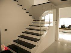 balustrada din sticla securizata, fara mana curenta Stairs, Home Decor, Houses, Interiors, Stairway, Decoration Home, Room Decor, Staircases, Home Interior Design
