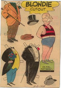 Colonel Potterby - Blonde paper doll