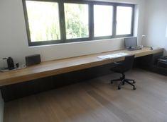 zwevend bureau - Google Search Study Table Designs, Dream Desk, Office Plan, Floating Desk, Work Station Desk, Wall Desk, Office Table, Small House Design, Home Office Design