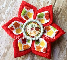 It's Fall Y'all Dahlia Flower Hair Clip by HairBowsByAshleigh