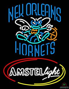 81e402b04f2 Amstel Light Orleans Hornets Neon Sign NBA Teams Neon Light