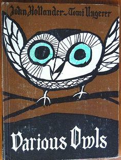 Various owls kid books, vintage books, tomi unger, button crafts, vintage birds, owl, book illustrations, vintage kids, vintage book covers