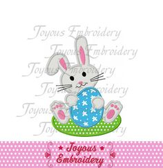 Instant Download Easter Bunny  Applique by JoyousEmbroidery