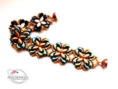 You will receive an 3 pages pdf file with easy to follow, step by step instruction on how to make this bracelet, a list of used materials, extra information on how to use Sarvski Crystal Mesh and a picture of the finished bracelet. This bracelet is made with ZoliDuos, IrisDuos, 3mm round beads and Seed beads 11/0 This is a simple but elegant bracelet and you dont need much experiance to make this bracelet In the pattern you find instructions on how to adjust the length of the bracelet ...
