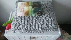 Poduszka dekoracyjna poszewka dziergana bawełna