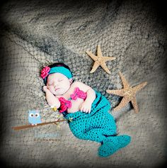 Newborn Photography Prop  Mermaid Cocoon and by SassyMcTaffy,    Mostly I love this because I made it...but isn't this photographer amazing?! <3 her!