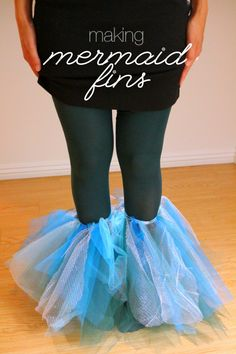 diy mermaid fins so you can dance instead of just 'wiggle' (use with scale pattern leggings)