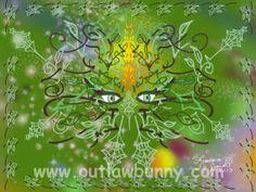 Green Man. Foliate face. Green God.