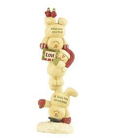 Look what I found on #zulily! 'Love' Snowman Stack Figurine #zulilyfinds